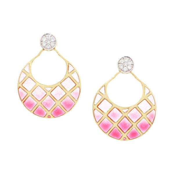 ER7071_Enamel Earrings jaipur jewels by vaibhav dhadda
