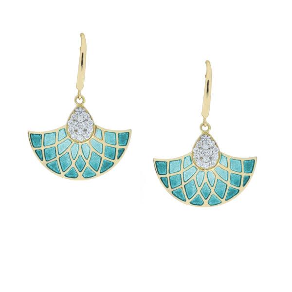 Plique -a- Jour Enamel Earring Jaipur Jewels by Vaibhav Dhadda