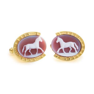 Horse Shoe Cufflinks Jaipur Jewels by Vaibhav Dhadda